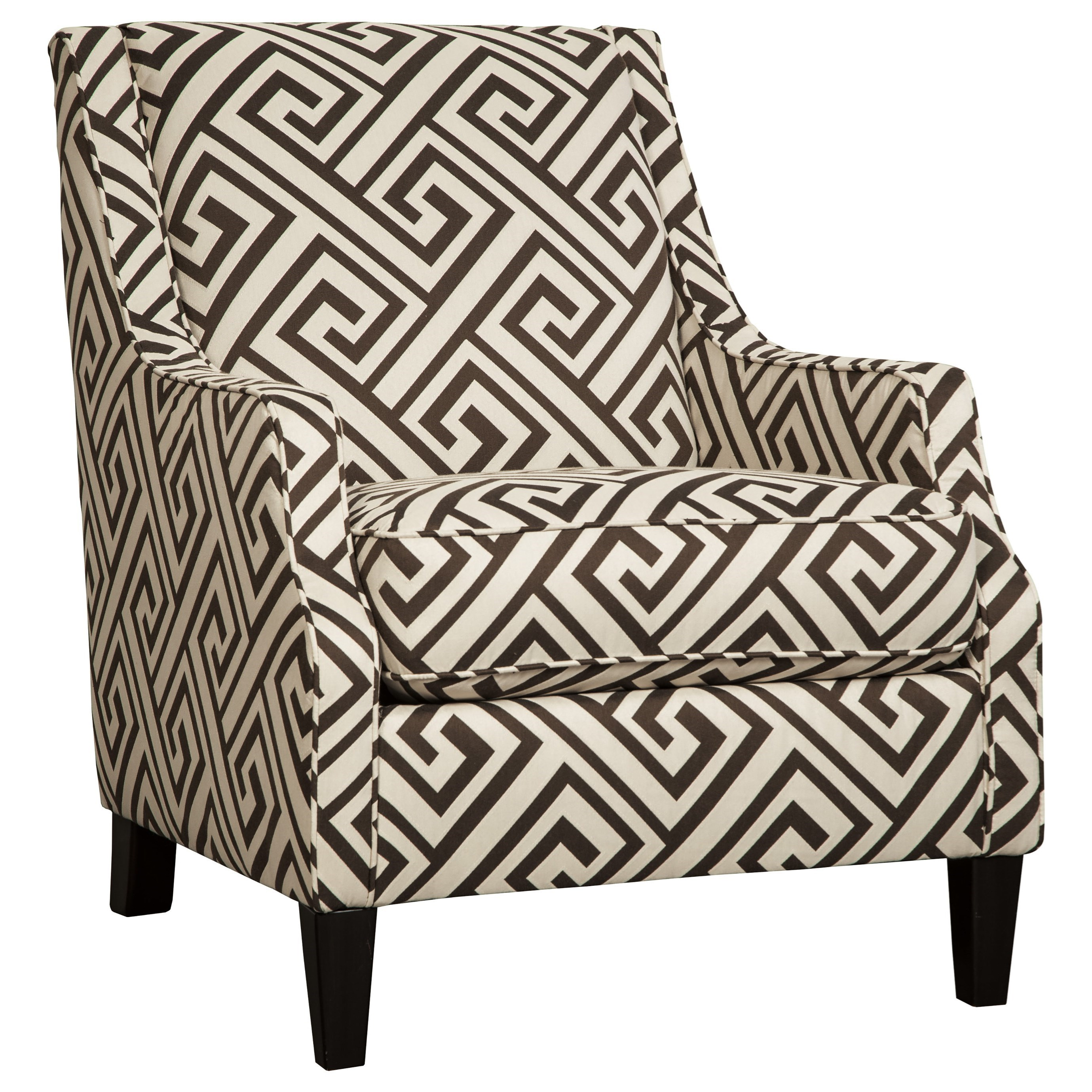 greek style furniture vintage french style benchcraft carlinworth accent chair item number 8440121 greek key fabric value city