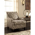 Benchcraft Carlinworth Greek Key Fabric Accent Chair