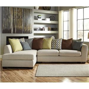 Ashley/Benchcraft Casheral 2-Piece Sectional with Left Chaise