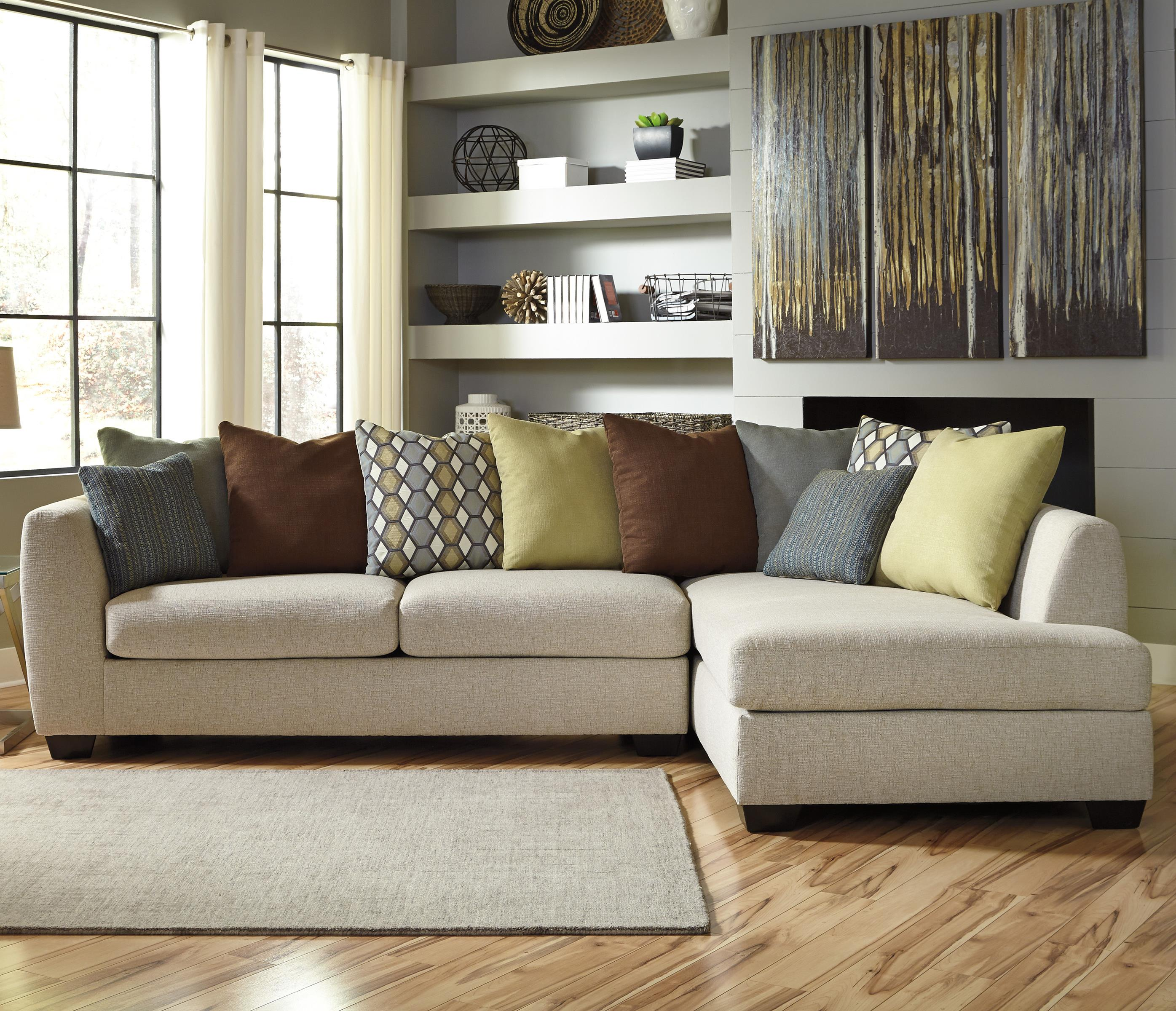 Benchcraft Casheral 2-Piece Sectional with Right Chaise - Item Number: 8290166+17