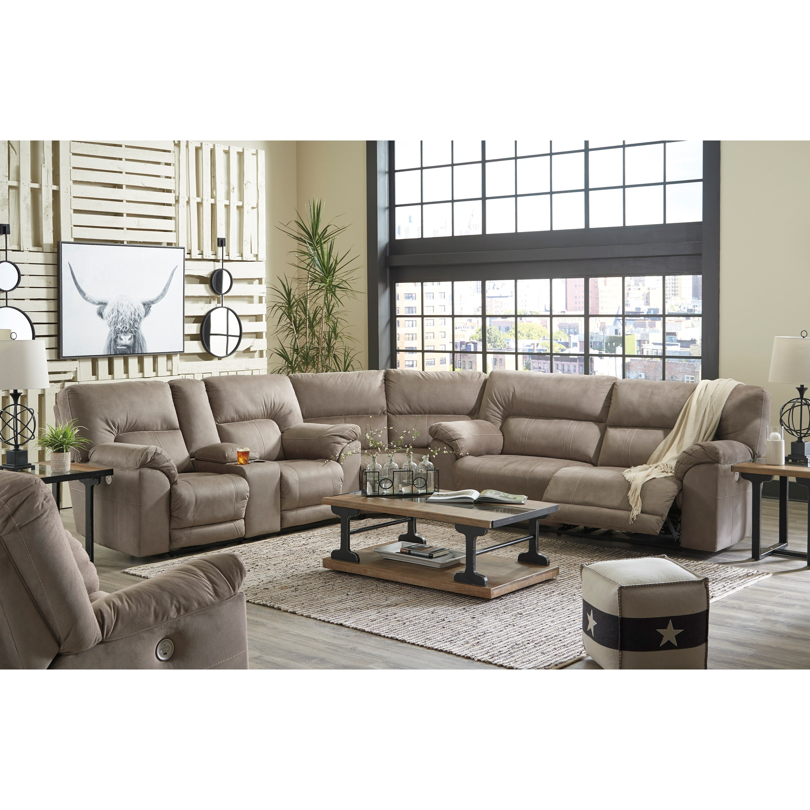 Cavalcade Reclining Living Room Group by Benchcraft at Standard Furniture
