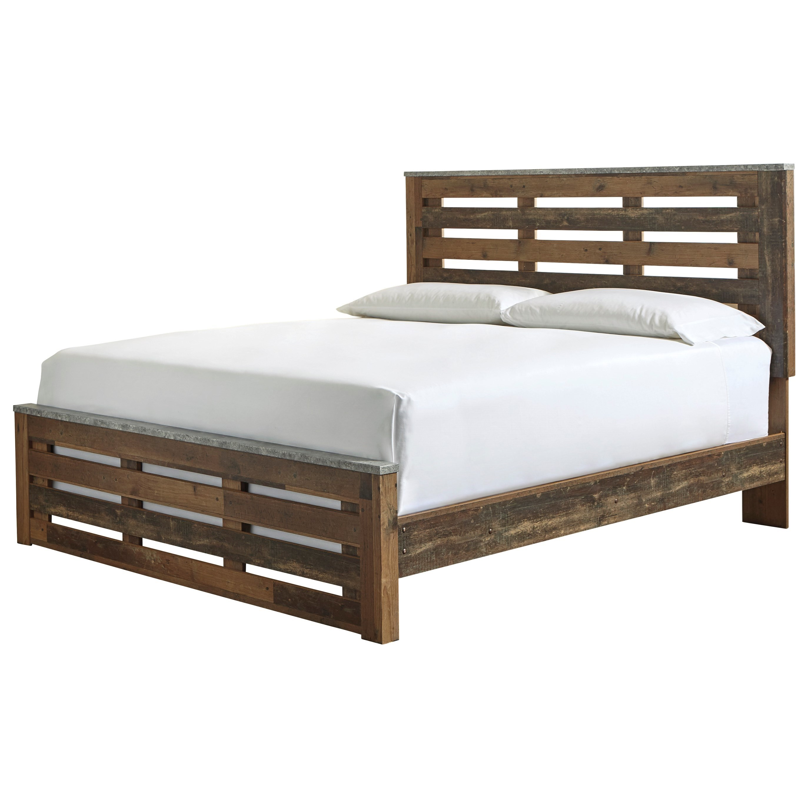 Chadbrook King Panel Bed by Benchcraft at Walker's Furniture