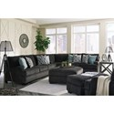 Benchcraft Charenton Sectional Sofa with English Arms