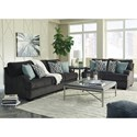 Benchcraft Charenton Queen Sofa Sleeper with English Arms and Memory Foam Mattress