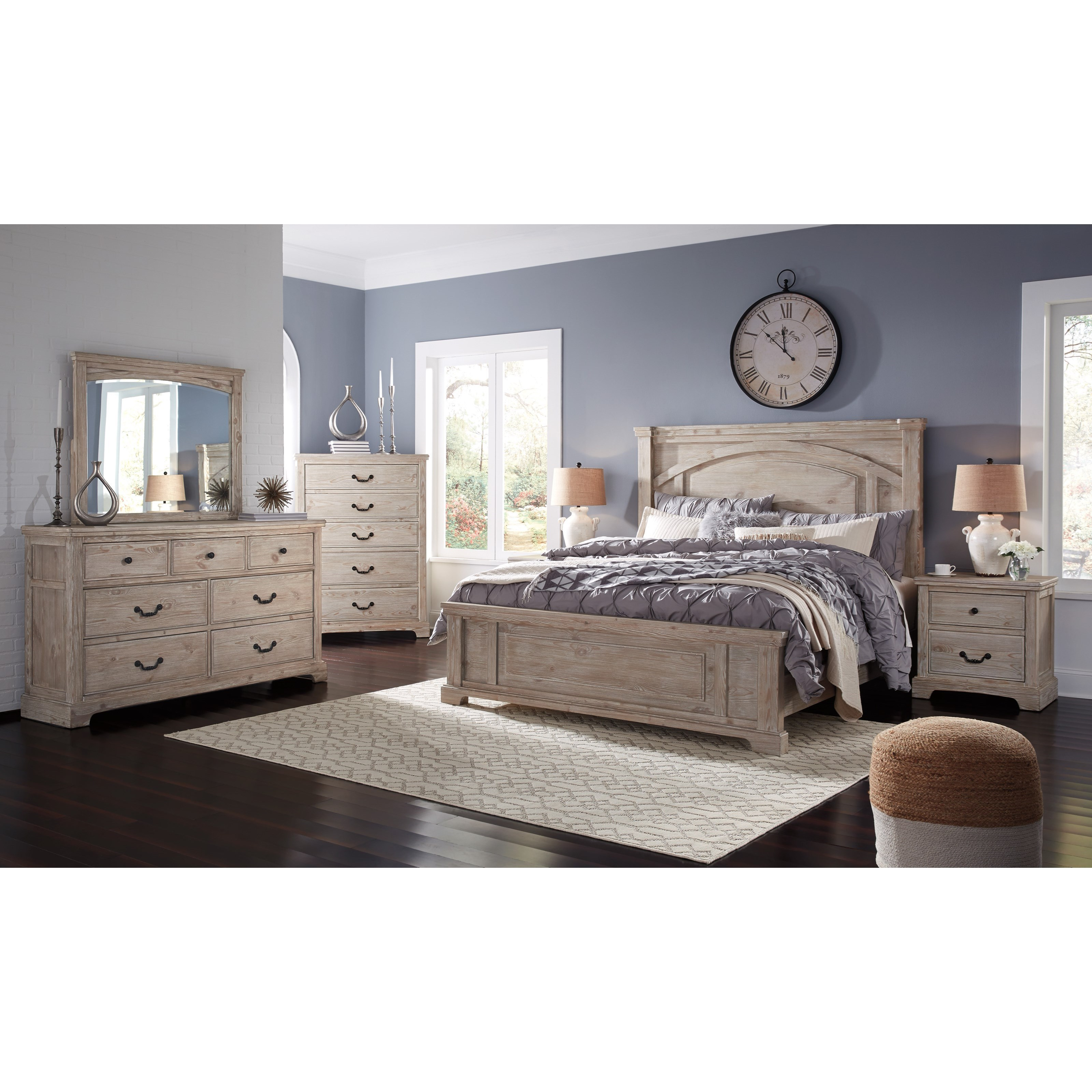Bedroom Groups: Benchcraft By Ashley Charmyn Queen Bedroom Group