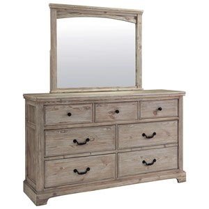 Benchcraft Charmyn Dresser and Mirror Set