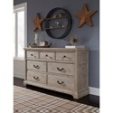 Benchcraft Charmyn Relaxed Vintage 7 Drawer Dresser