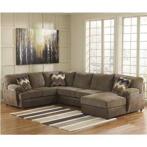 Ashley Cladio - Hickory 3-Piece Sectional with Right Chaise