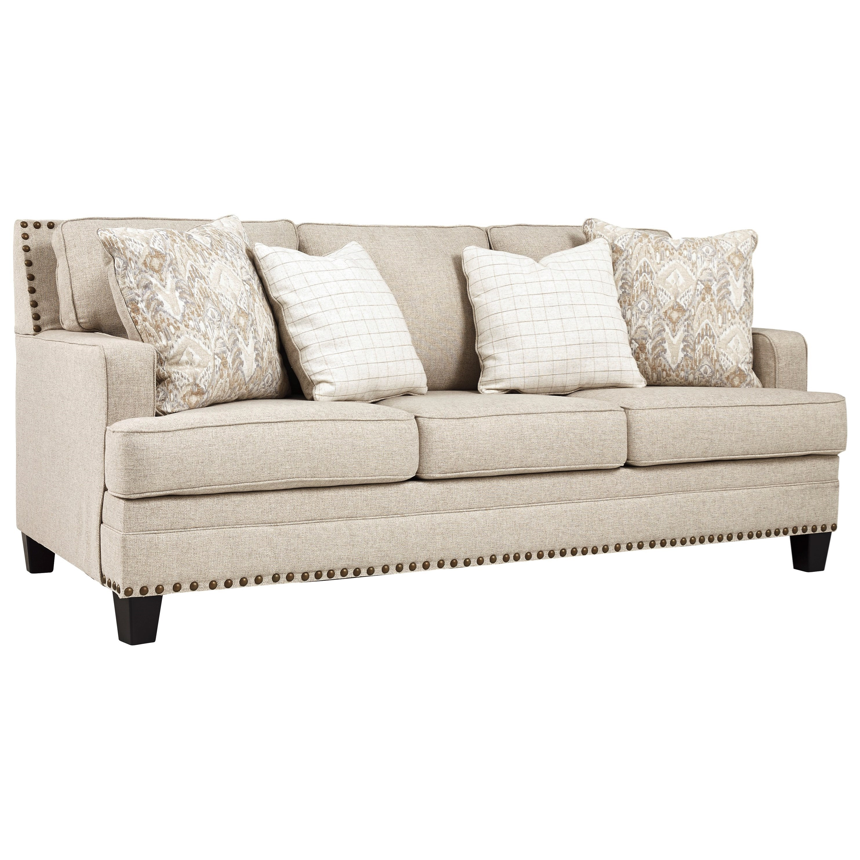 Signature Design By Ashley Claredon Transitional Sofa With Nailhead Trim Conlin S Furniture