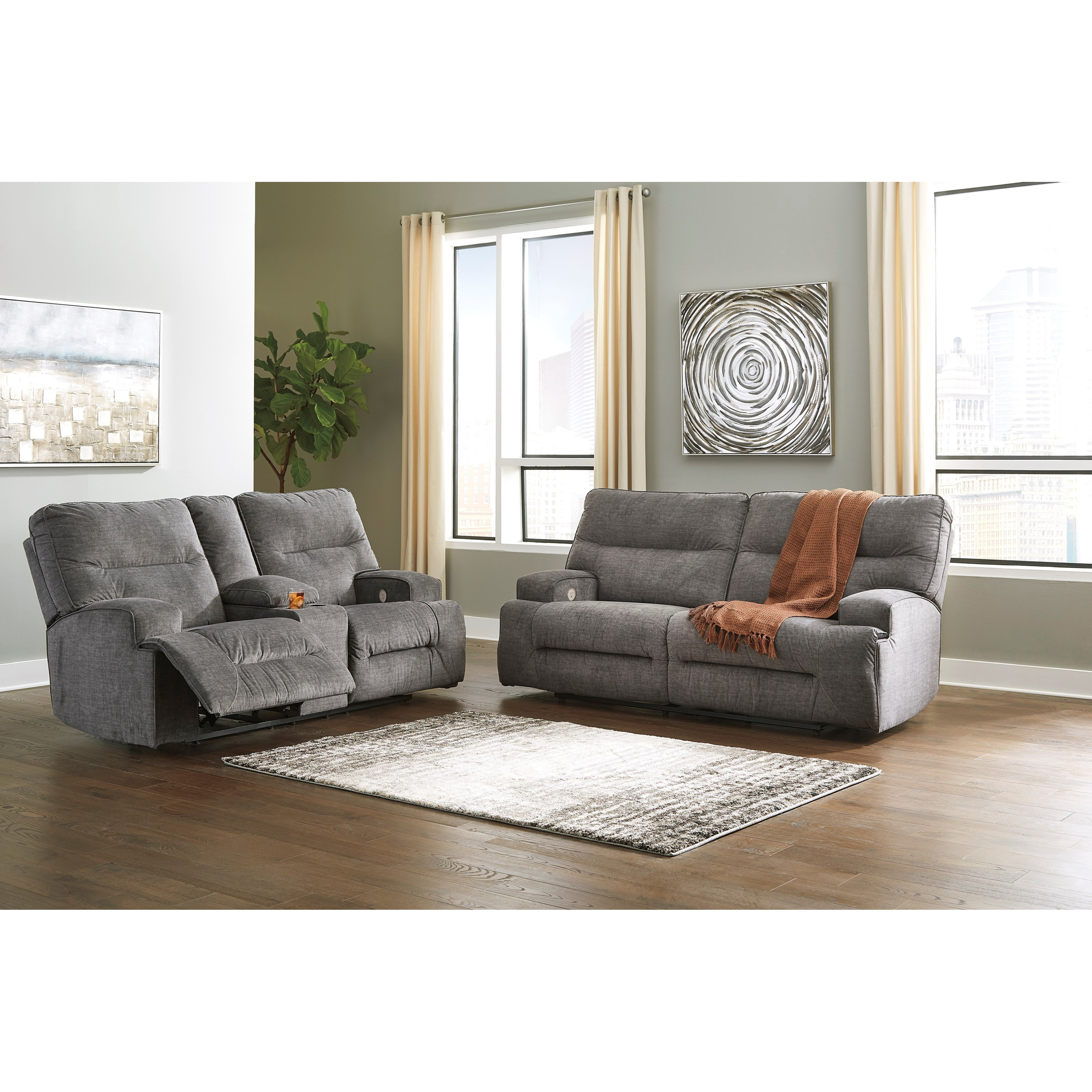 Coombs Power Reclining Living Room Group by Benchcraft at Northeast Factory Direct