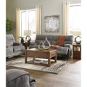 Benchcraft Coombs Reclining Living Room Group - Item Number: 45302 Living Room Group 3
