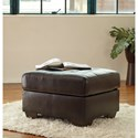 Ashley Coppell DuraBlend® Contemporary Ottoman with Tufted Top