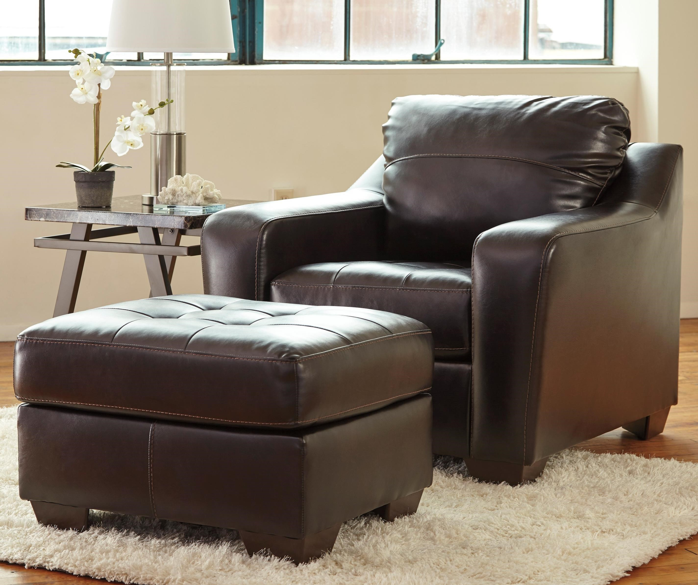 Benchcraft Coppell DuraBlend® Chair & Ottoman - Item Number: 5900120+14