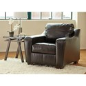 Ashley/Benchcraft Coppell DuraBlend® Contemporary Chair with Tufted Seat Cushion