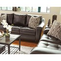 Benchcraft Coppell DuraBlend® Contemporary Loveseat with Tufted Seat Cushions