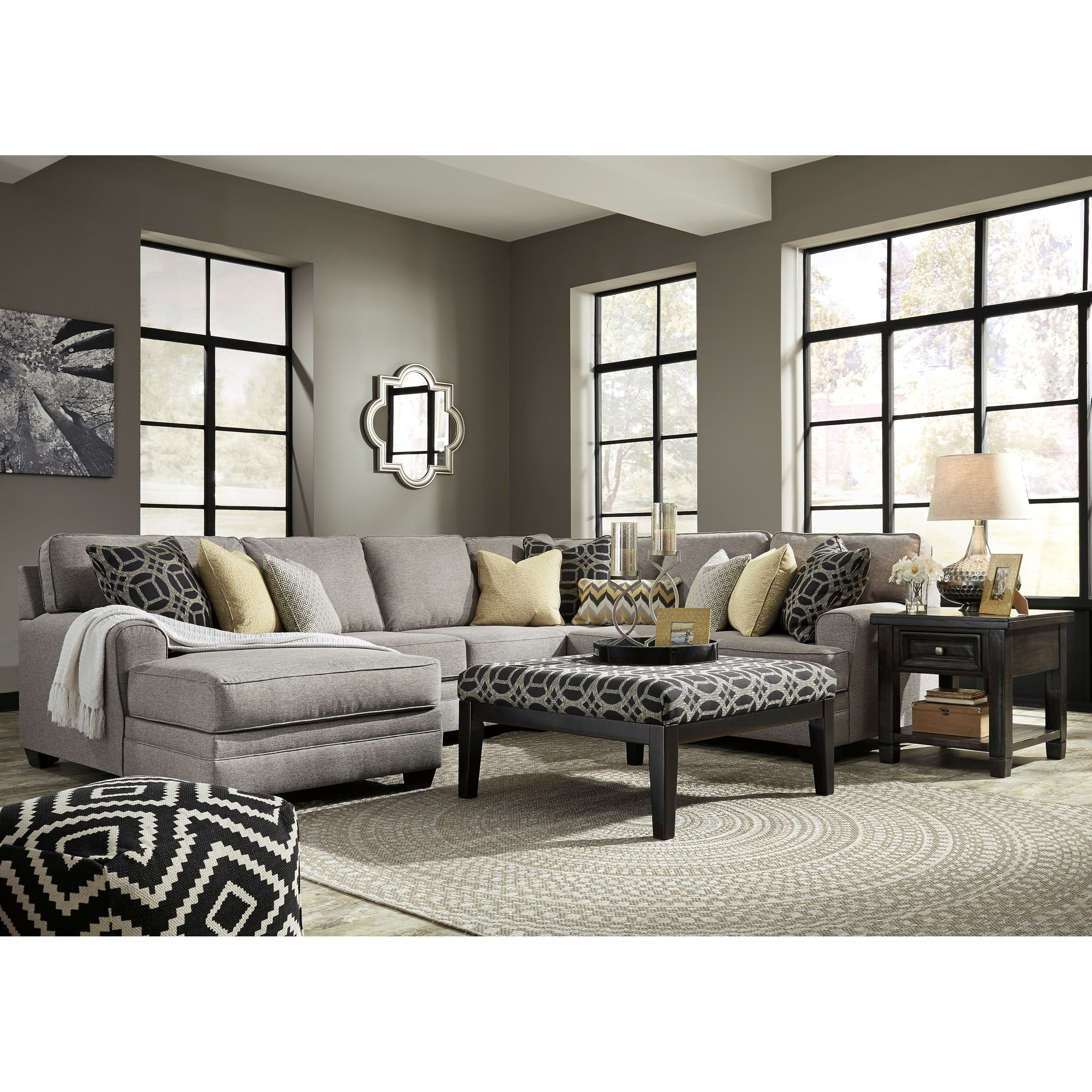 Ashley/Benchcraft Cresson Stationary Living Room Group - Item Number: 54907 Living Room Group 1