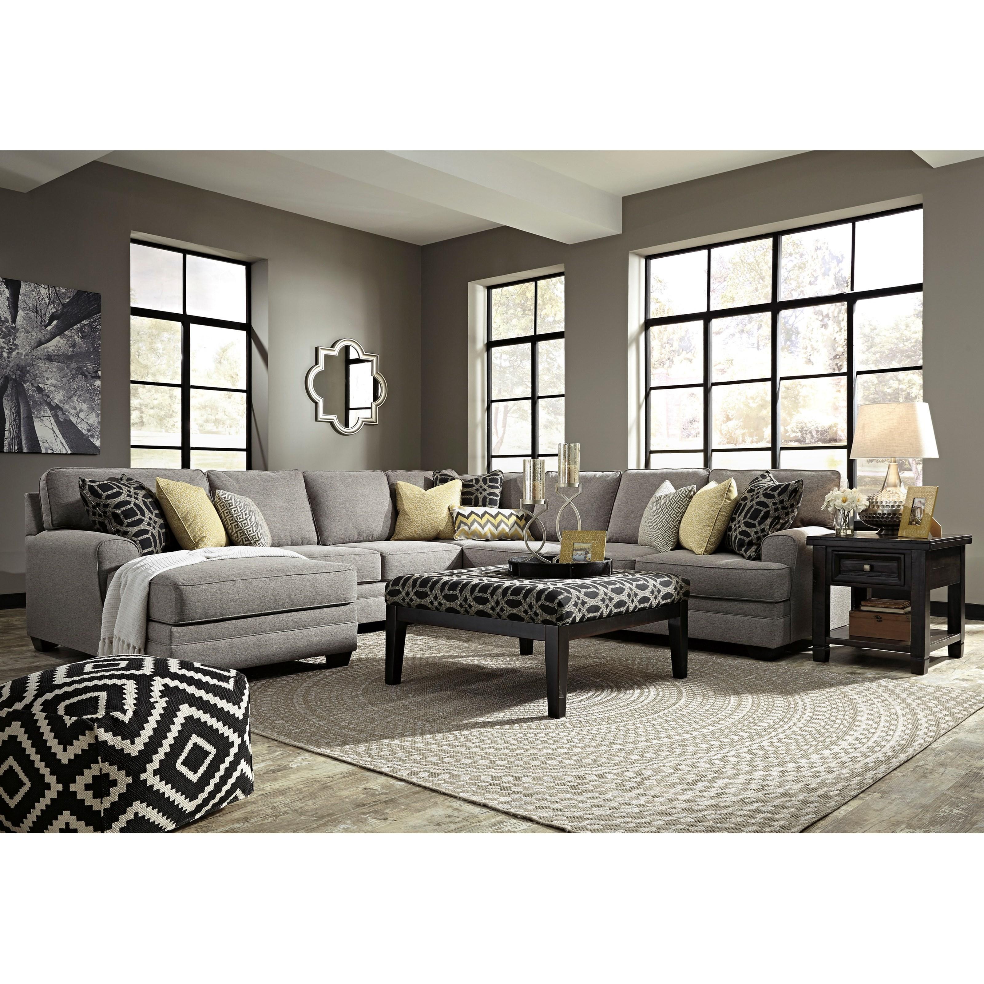 Ashley/Benchcraft Cresson Stationary Living Room Group - Item Number: 54907 Living Room Group 5