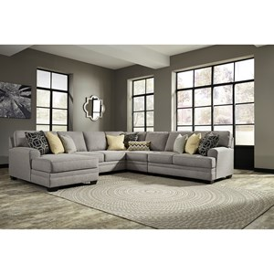 Benchcraft Cresson 5-Piece Sectional with Chaise