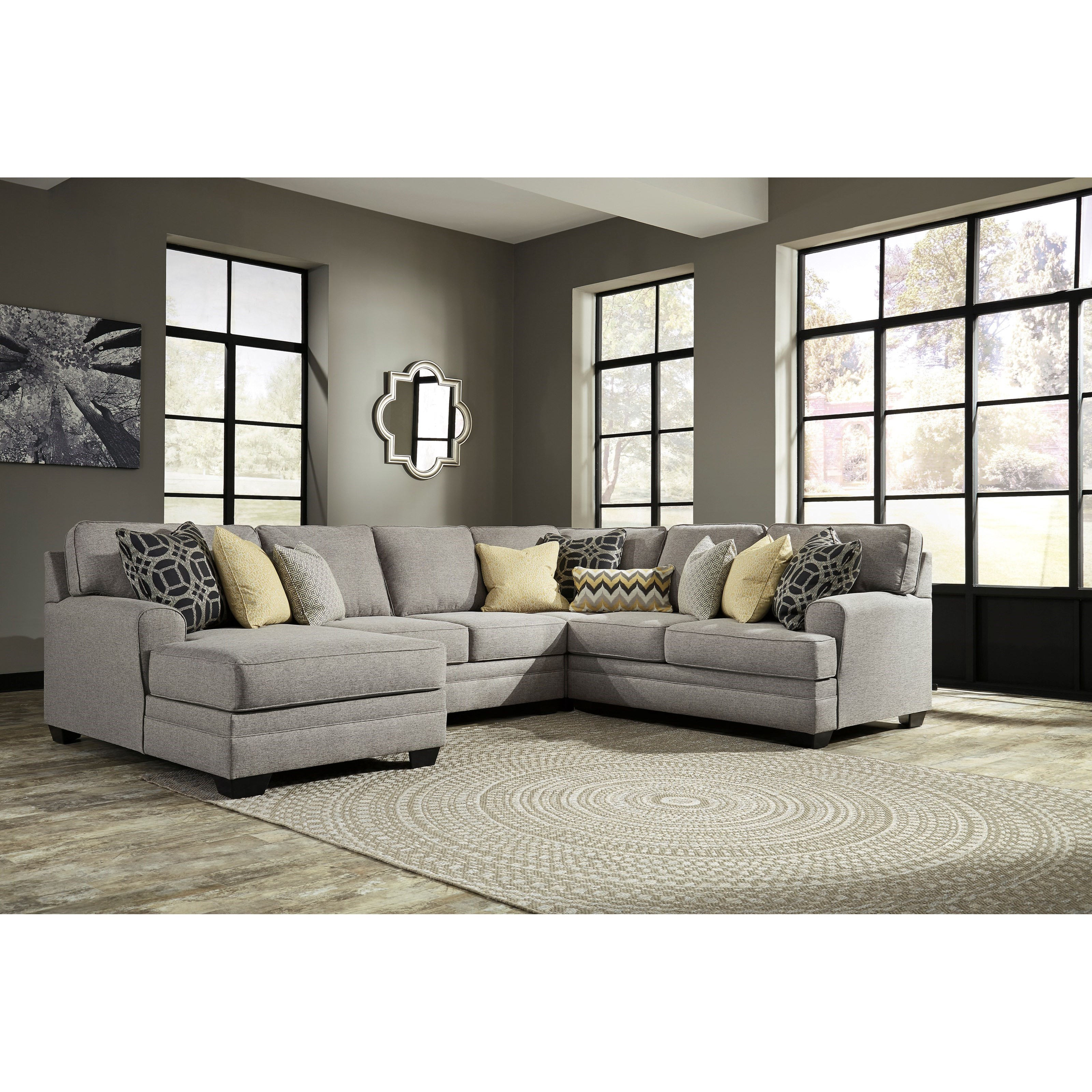 Benchcraft Cresson Contemporary 4-Piece Sectional With