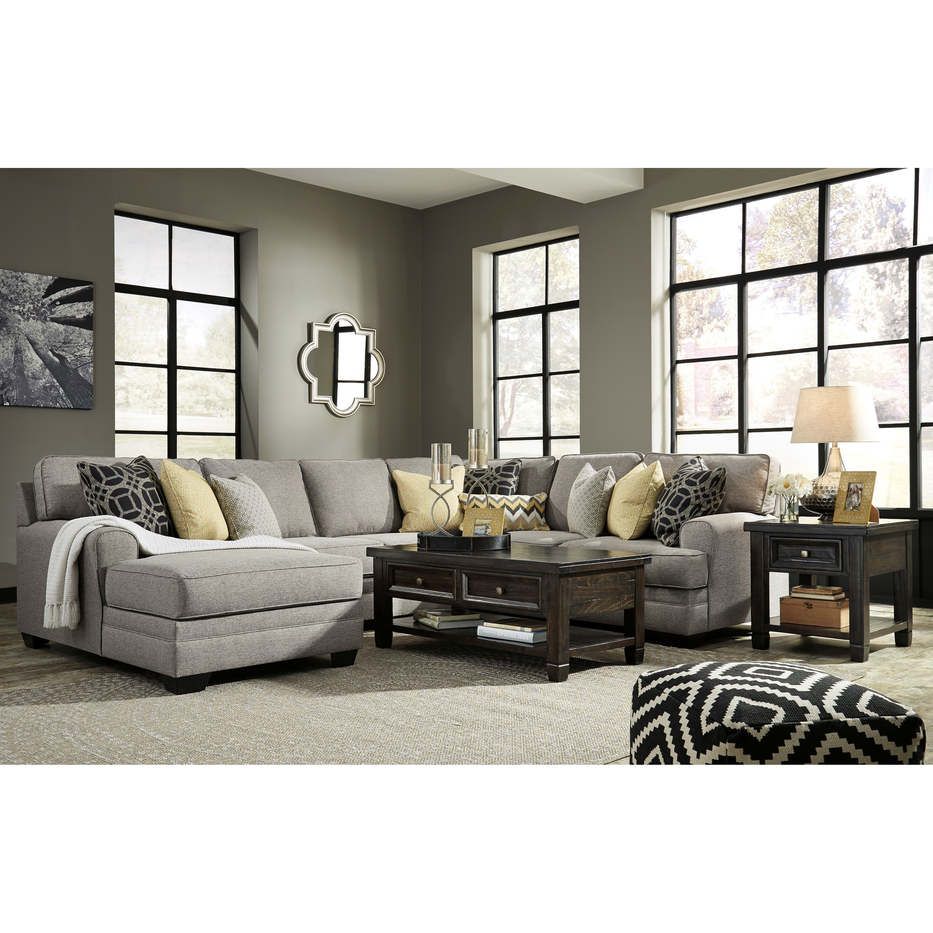 Benchcraft by ashley cresson contemporary 4 piece for 4 piece sectional with chaise