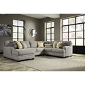 Ashley Cresson 4-Piece Sectional with Chaise - Item Number: 5490716+34+77+56