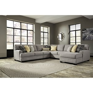 Ashley Cresson 5-Piece Sectional with Chaise