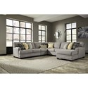 Benchcraft Cresson 5-Piece Sectional with Chaise - Item Number: 5490755+46+77+34+17