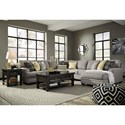 Benchcraft Cresson Contemporary 5-Piece Sectional with Chaise