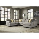 Benchcraft Cresson 4-Piece Sectional with Chaise - Item Number: 5490755+77+34+17