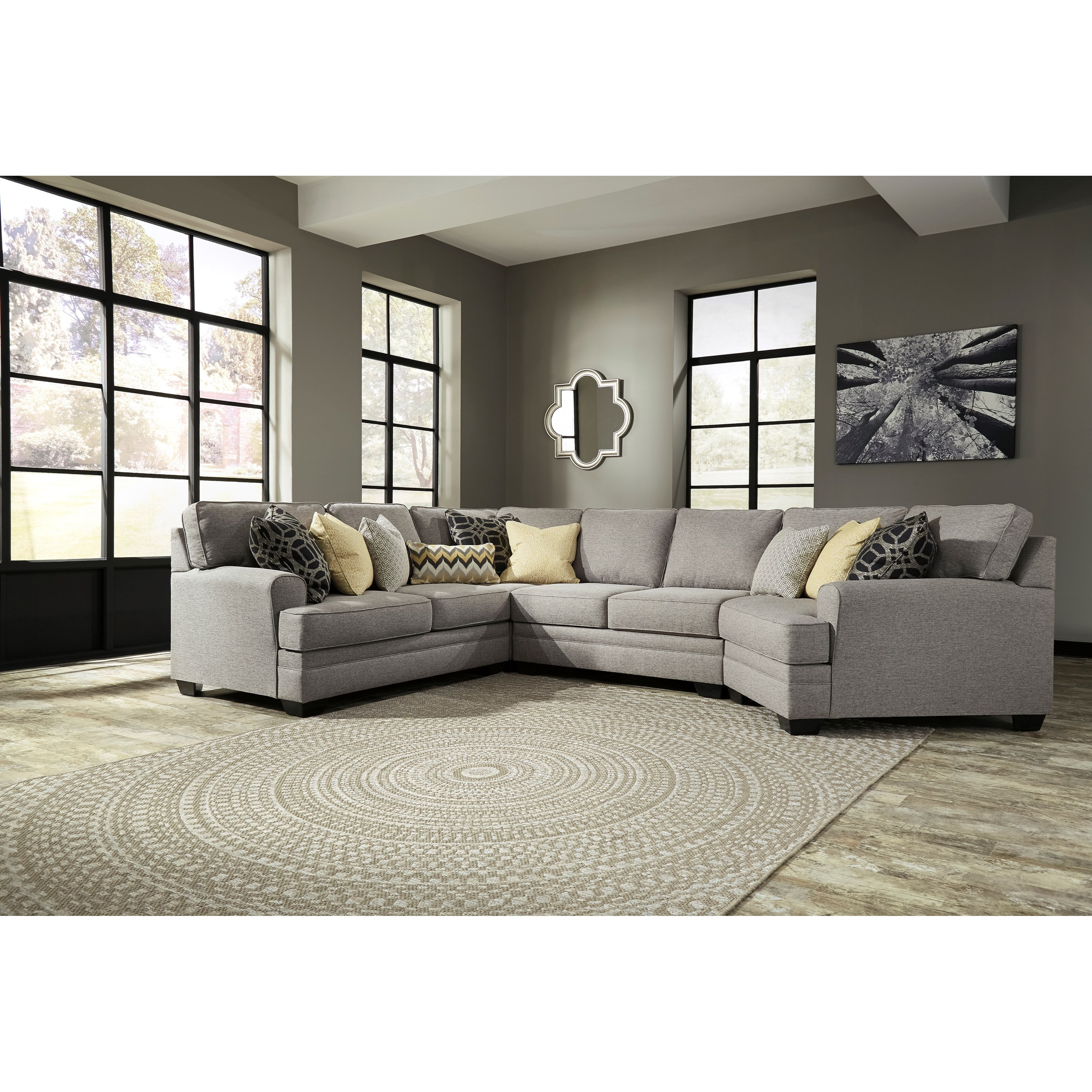 Benchcraft Cresson 4-Piece Sectional with Cuddler - Item Number: 5490755+77+34+75