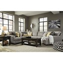 Benchcraft Cresson Contemporary 4-Piece Sectional with Cuddler