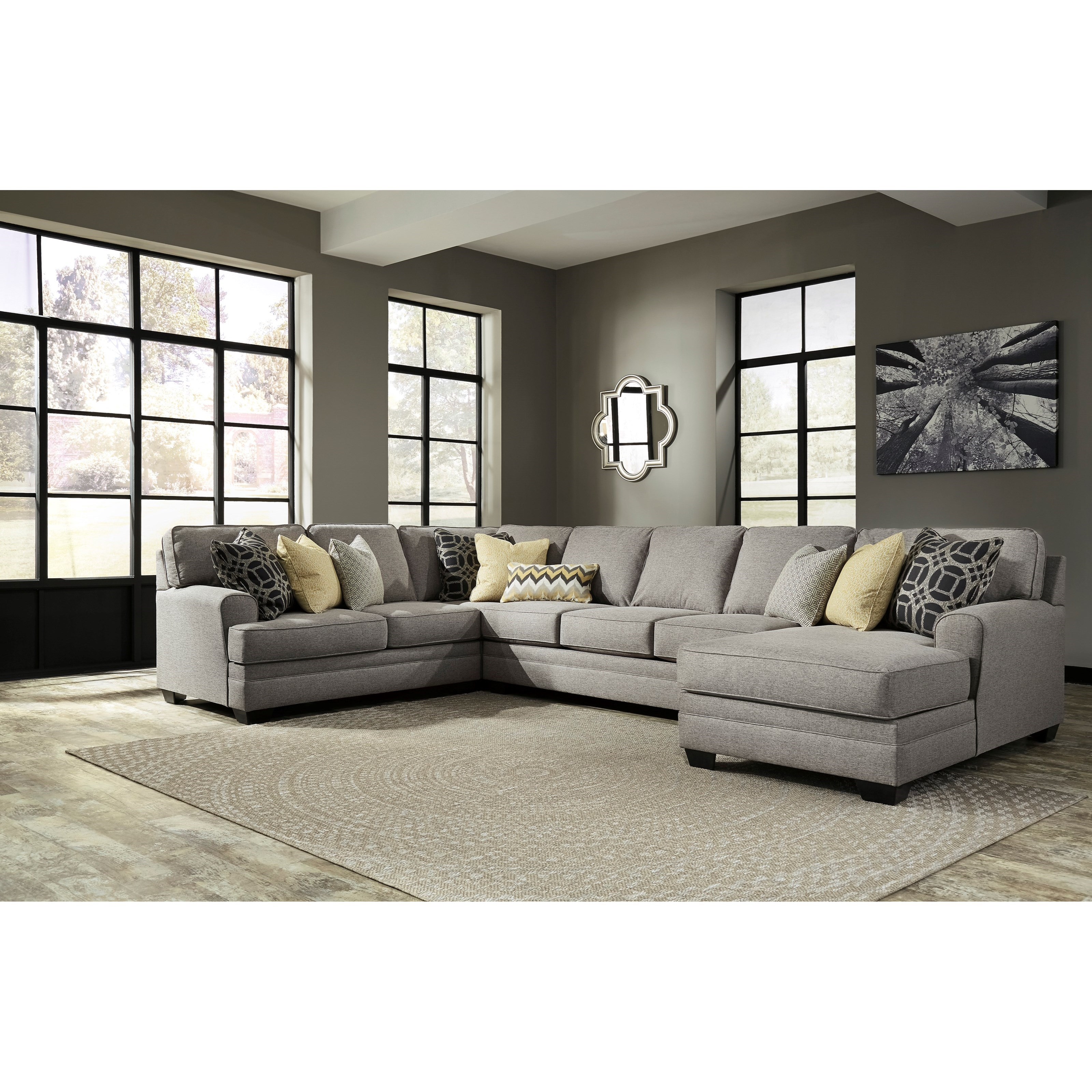 Benchcraft Cresson Contemporary 4 Piece Sectional with Chaise