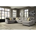Ashley Cresson 4-Piece Sectional with Chaise & Armless Sofa - Item Number: 5490755+77+99+17