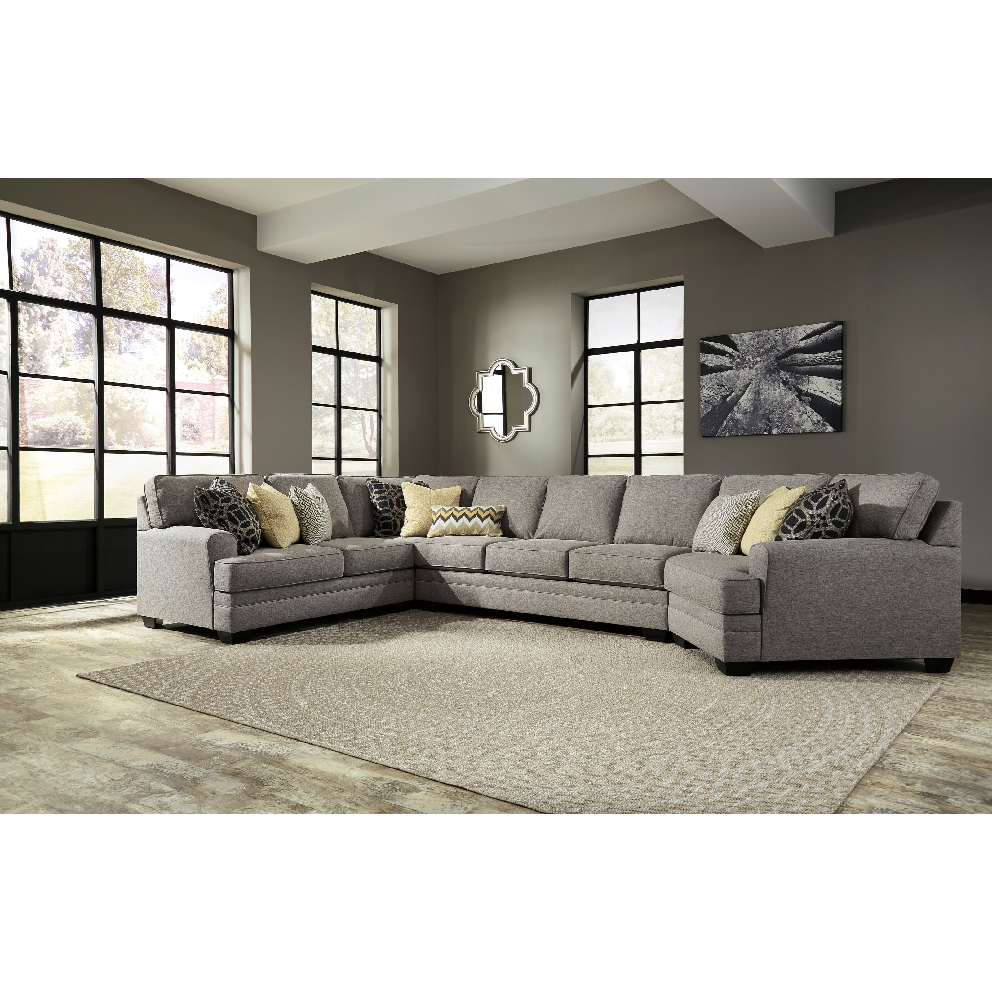 Contemporary Sectional: Benchcraft Cresson Contemporary 4-Piece Sectional W