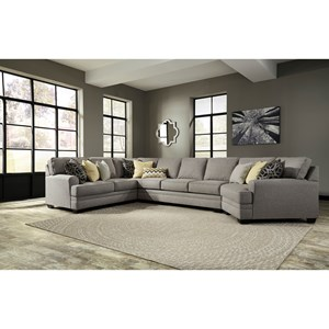 Ashley Cresson 4-Piece Sectional w/ Cuddler & Armless Sofa