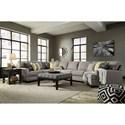 Ashley/Benchcraft Cresson Contemporary 4-Piece Sectional w/ Cuddler & Armless Sofa