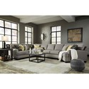 Benchcraft Cresson Contemporary 4-Piece Sectional w/ Cuddler & Armless Sofa