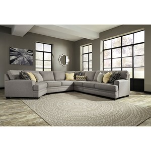 Ashley Cresson 5-Piece Sectional with Cuddler