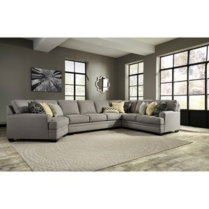 Benchcraft Cresson 4-Piece Sectional w/ Cuddler & Armless Sofa