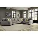 Ashley/Benchcraft Cresson 4-Piece Sectional w/ Cuddler & Armless Sofa - Item Number: 5490776+99+77+56