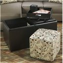 Benchcraft Danely Ottoman With Storage - Item Number: 3550011