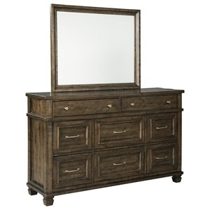 Benchcraft Darloni Dresser and Mirror Set