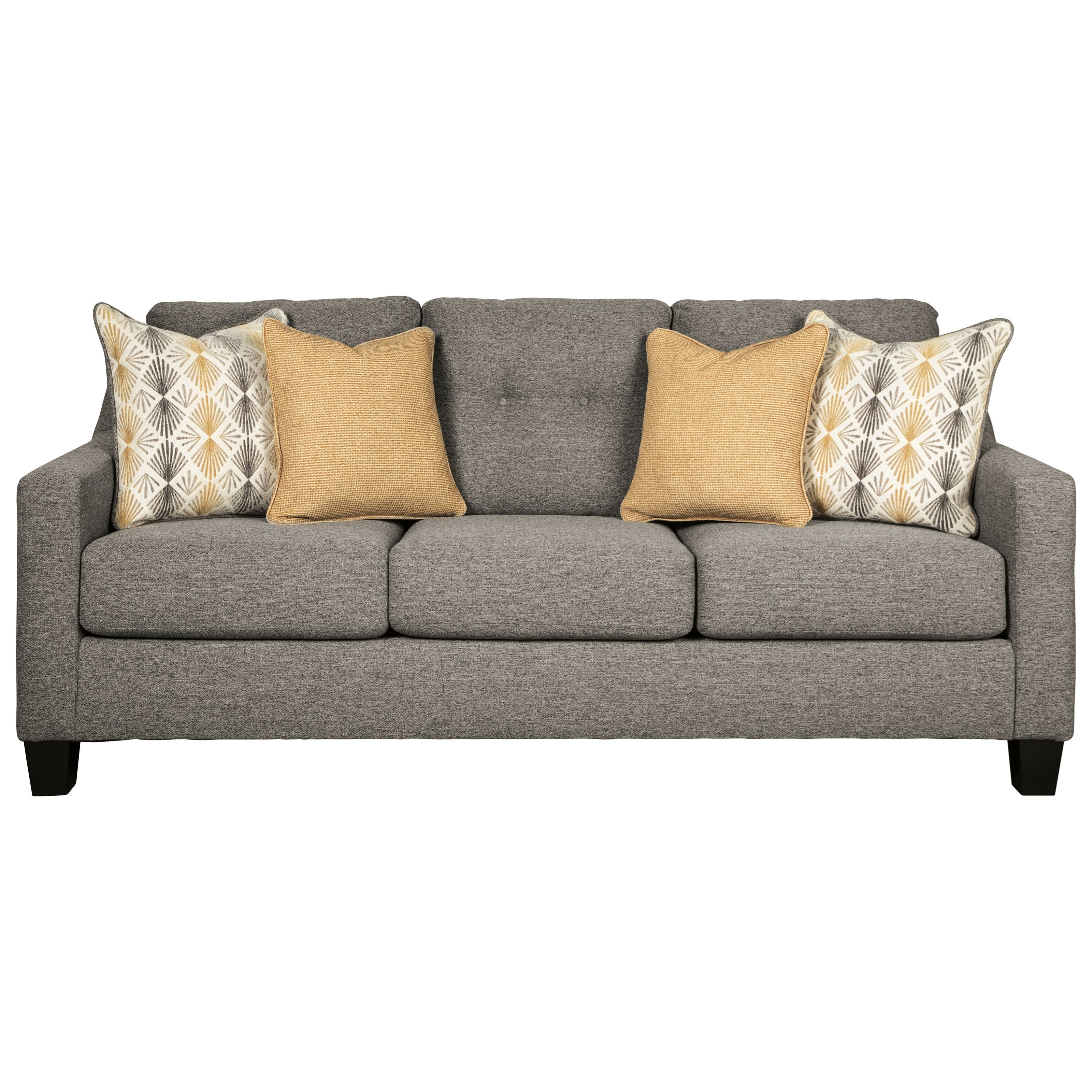 Picture of: Ashley Furniture Benchcraft Daylon 4230438 Contemporary Sofa With Tufted Back Del Sol Furniture Sofas