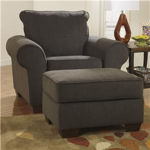 Benchcraft Deandre - Java Chair & Ottoman