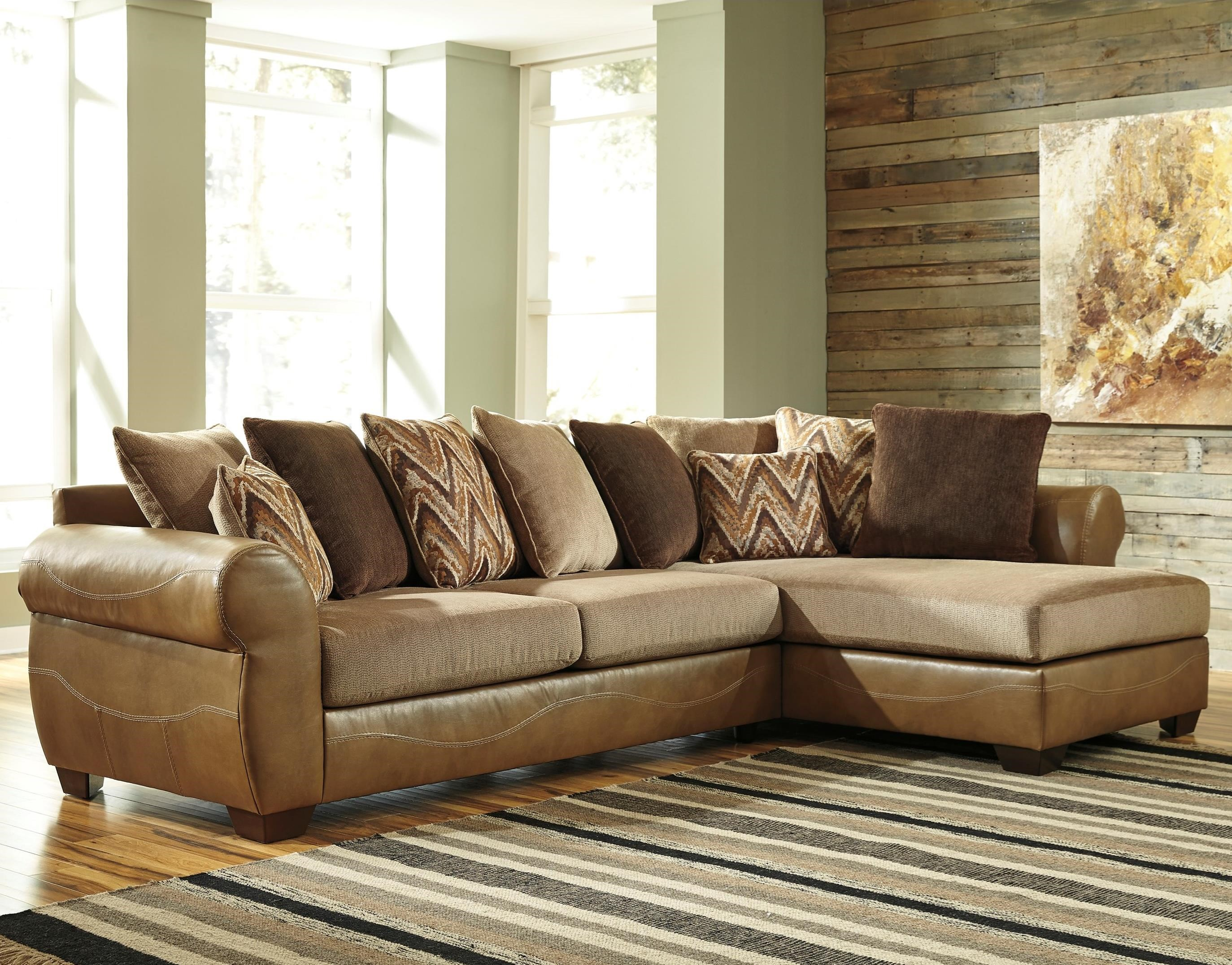 Benchcraft by ashley declain 2 piece sectional with right for Ashley sectional sofa with chaise