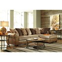 Benchcraft Declain 2-Piece Sectional with Right Chaise and Loose Back Pillows