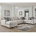 Benchcraft Dellara 5-Piece Sectional - Item Number: 3210134+77+56+46+16
