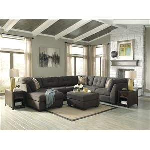 Ashley/Benchcraft Delta City - Steel Stationary Living Room Group