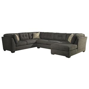 Benchcraft Delilah - Steel 3-Piece Modular Sectional with Right Chaise