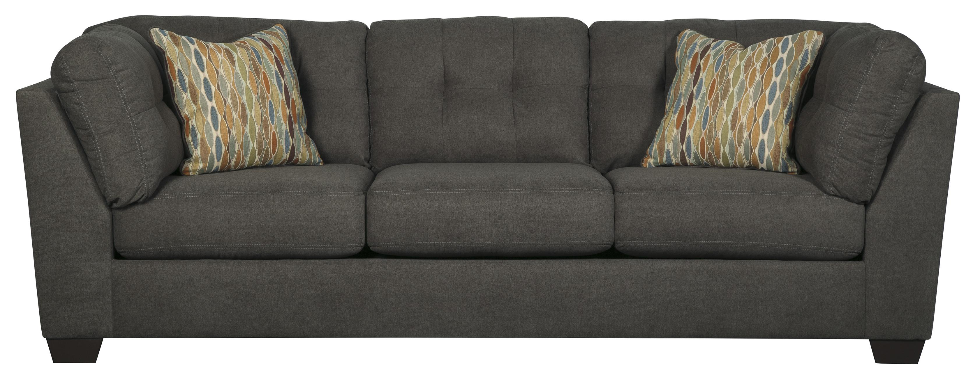 Benchcraft Delta City Steel Contemporary Sofa With Shelter Arms And Tufted Back Wayside